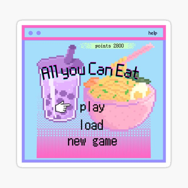 A game of All You Can Eat Sticker