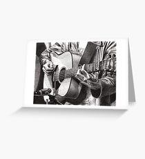 Oscar Plays Guitar Greeting Card