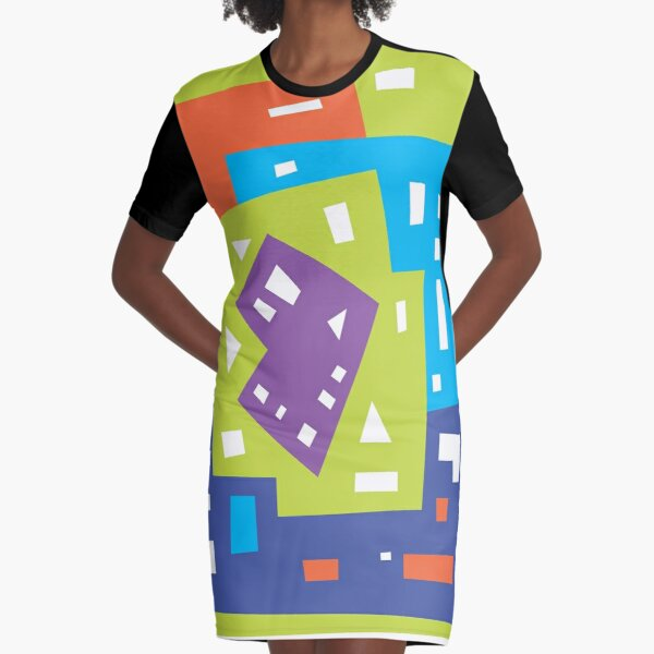 Abstract colorful pattern Graphic T-Shirt Dress