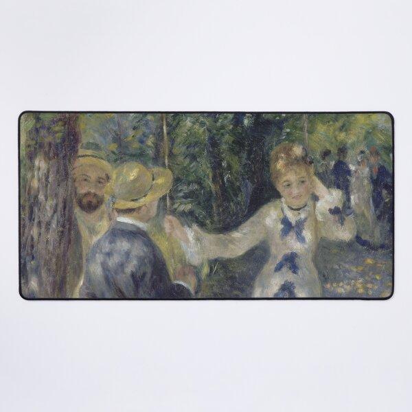 The Swing Oil Painting by Auguste Renoir Desk Mat