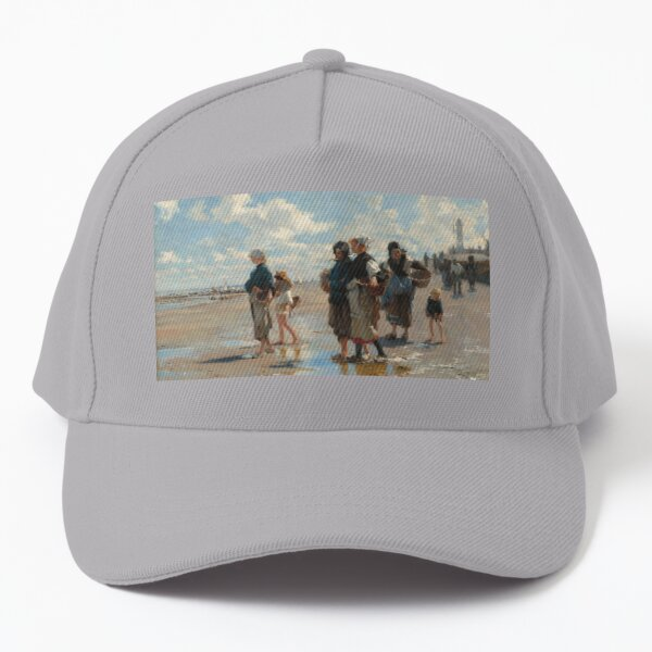 Setting Out to Fish Oil Painting by John Singer Sargent Baseball Cap