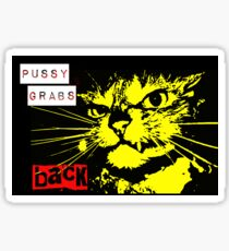 Pussy Grabs Back! Sticker