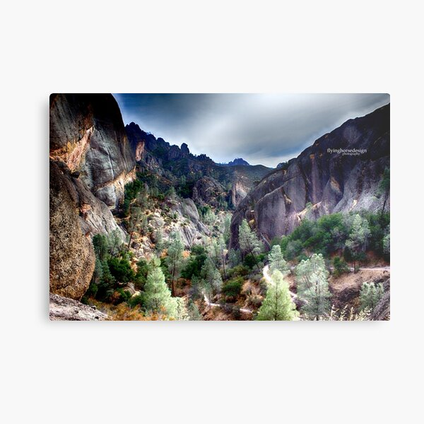 Pinnacles National Park volcanic cliffs - fall 2016  Metal Print