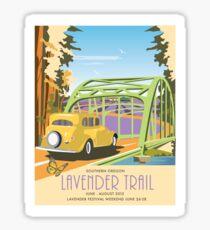 Applegate Lavender Trail Poster 2015 Sticker