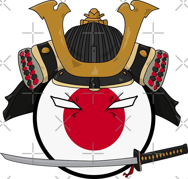Quot Polandball Japan Samurai Quot Stickers By Digitalcleo