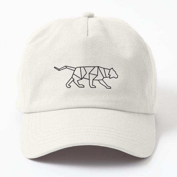 Geometric Wolf Dad Hat