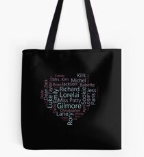 Character Word Cloud | Gilmore Girls Tote Bag