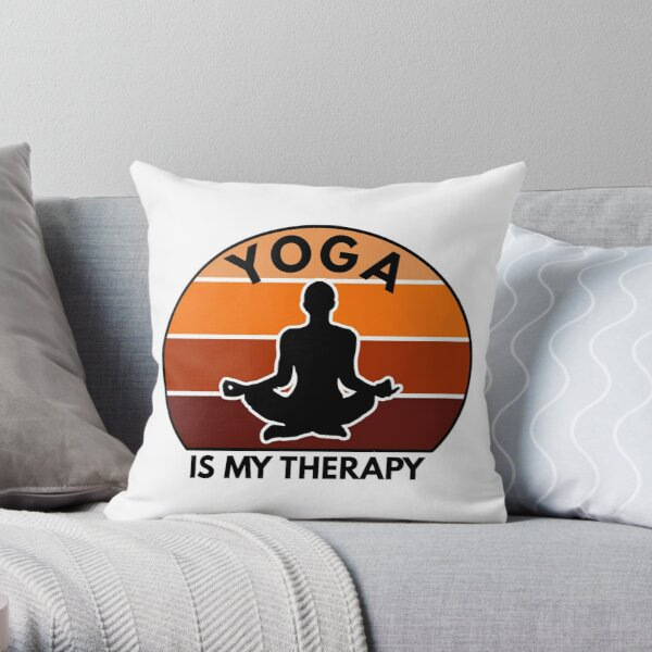Yoga And Meditation Practice, Yoga Therapy Throw Pillow