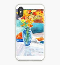 Poppies in a Blue Vase iPhone Case