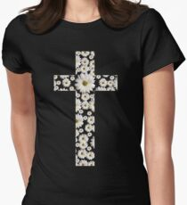 Daisy Cross Womens Fitted T-Shirt
