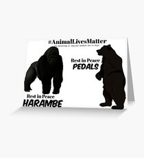 Harambe & Pedals Greeting Card