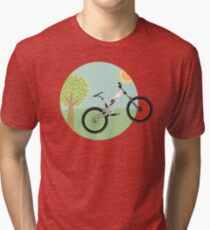Downhill mountainbike Tri-blend T-Shirt