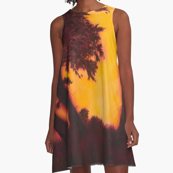 Dimming of the Day A-Line Dress