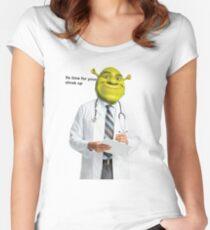 Shrek Check up meme Women's Fitted Scoop T-Shirt