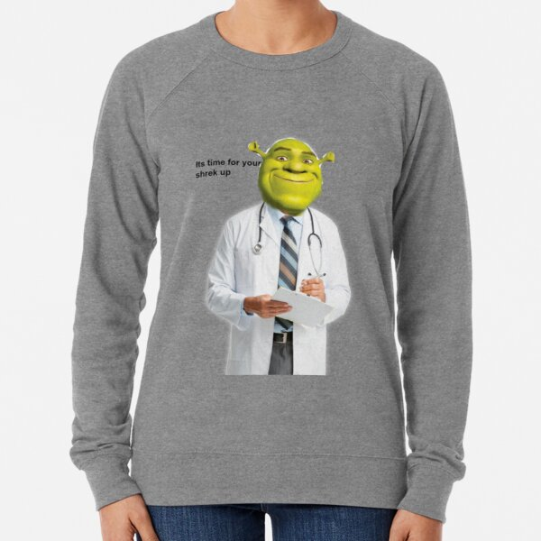 Shrek Check up meme Lightweight Sweatshirt