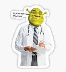 Shrek Check up meme Sticker