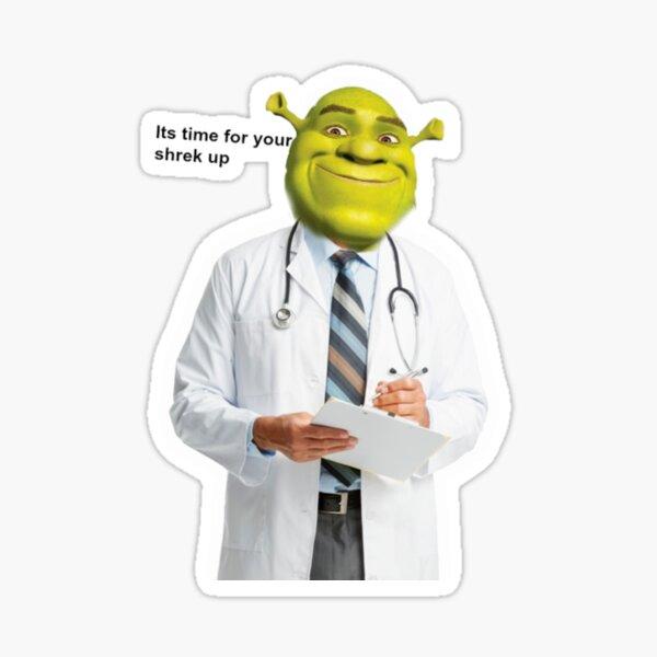 Shrek Comprueba el meme Pegatina