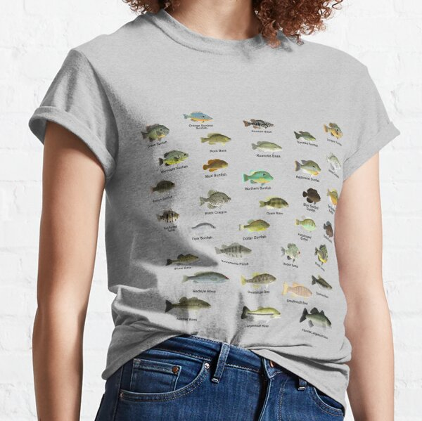 Sunfish Family (Centrarchids) - Named Classic T-Shirt