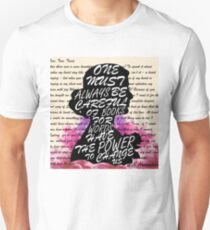 Words have the power to change us Unisex T-Shirt