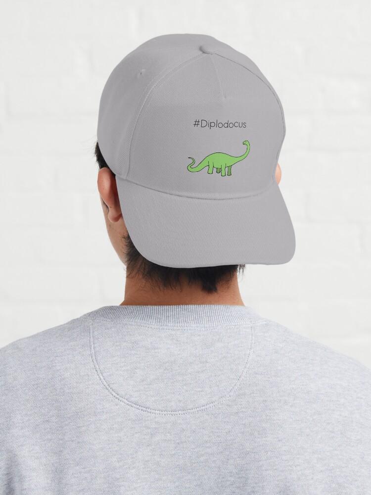 Alternate view of #Diplodocus - dinosaur design by Cecca Designs Cap