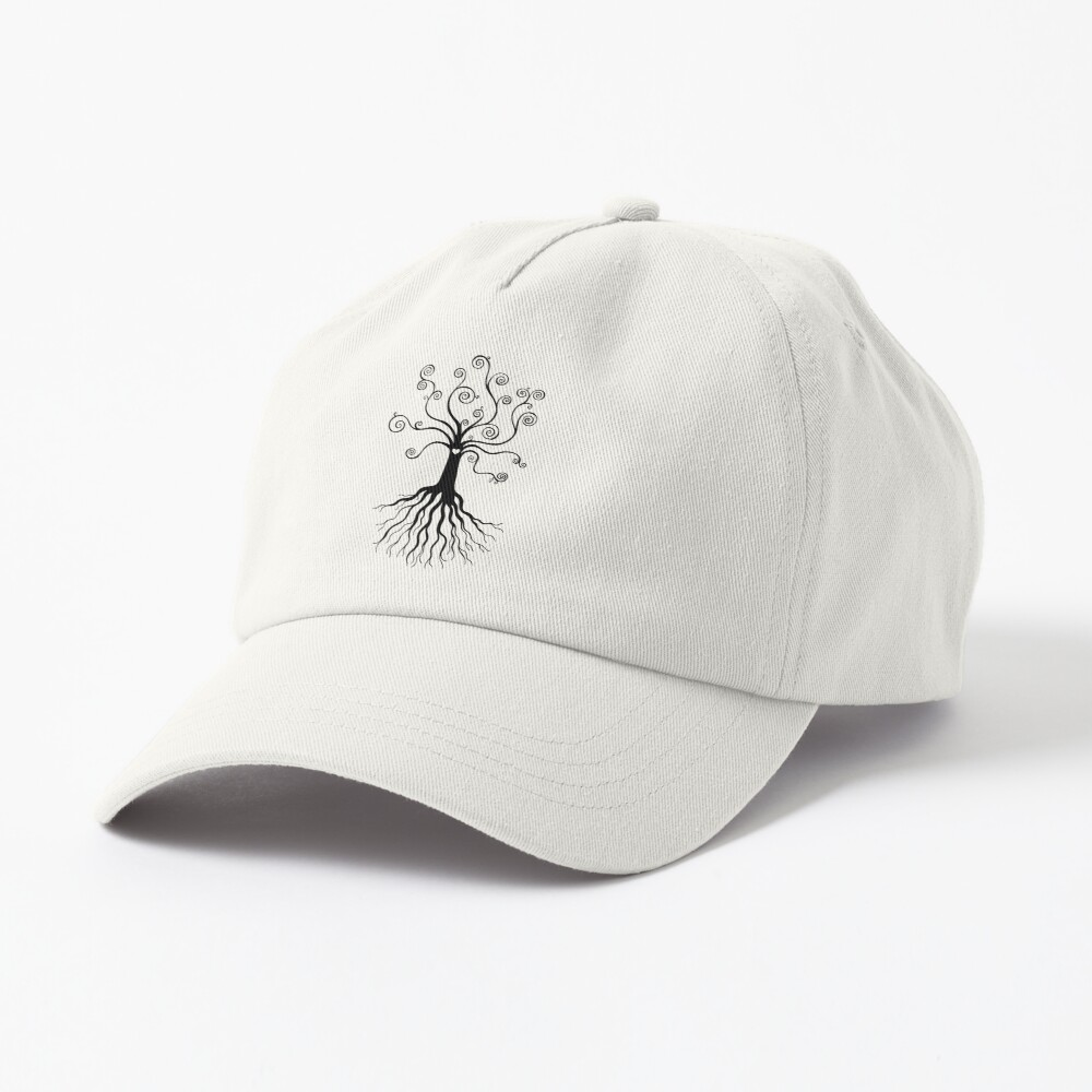 Tree of Life - black and white by Cecca Designs Cap