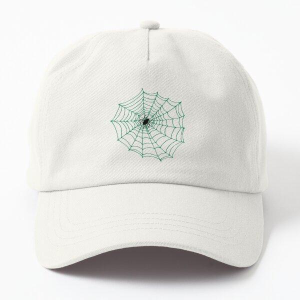 Spider Web Pattern - Black on Green - Spiderweb pattern by Cecca Designs Dad Hat