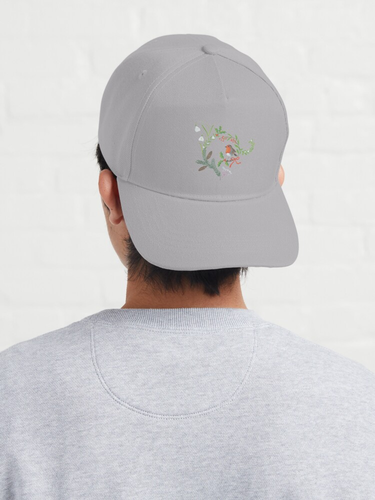 Alternate view of Christmas Chintz with Robin - Traditional chintz by Cecca Designs Cap