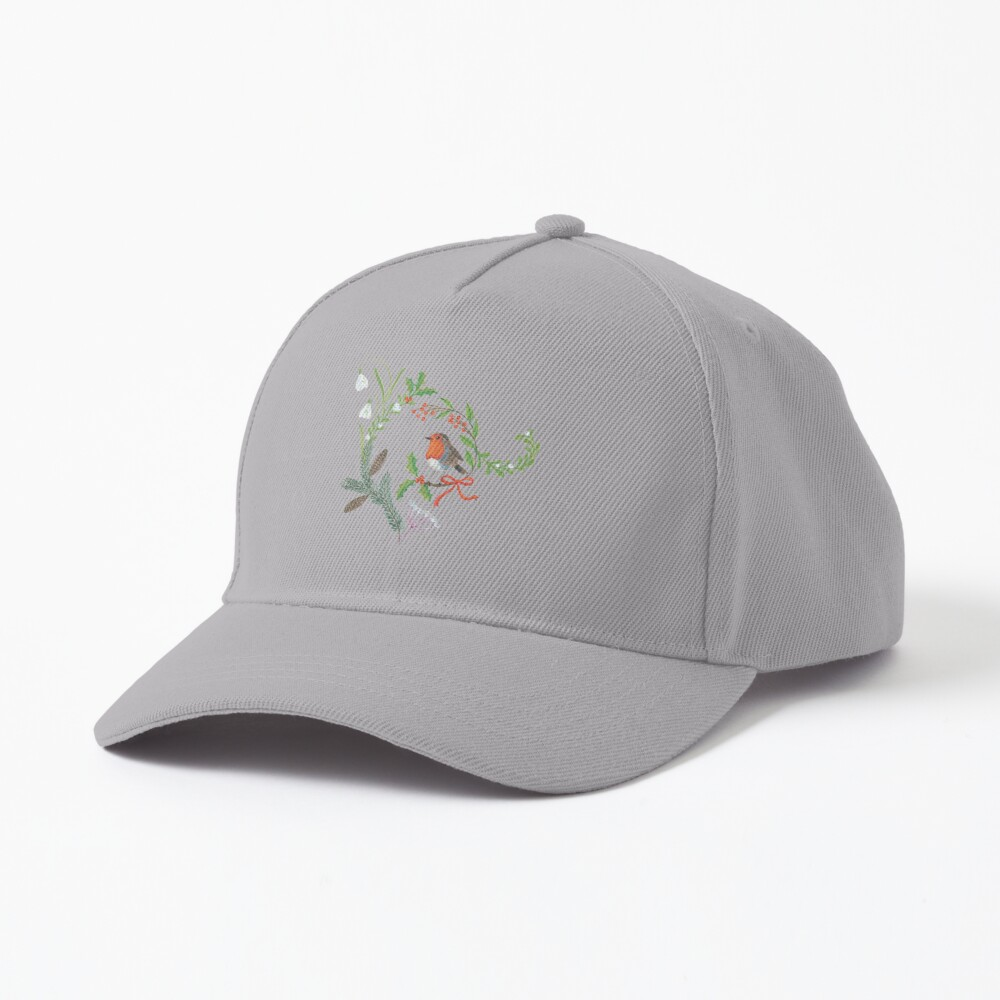 Christmas Chintz with Robin - Traditional chintz by Cecca Designs Cap
