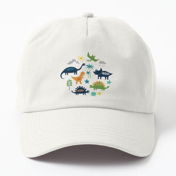 Dinosaur Land - cute Dino pattern by Cecca Designs Dad Hat