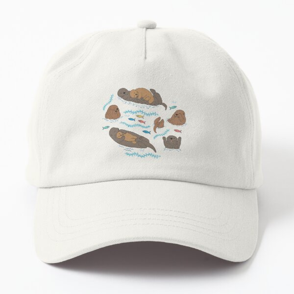 Sea Otters - cute animal pattern by Cecca Designs Dad Hat
