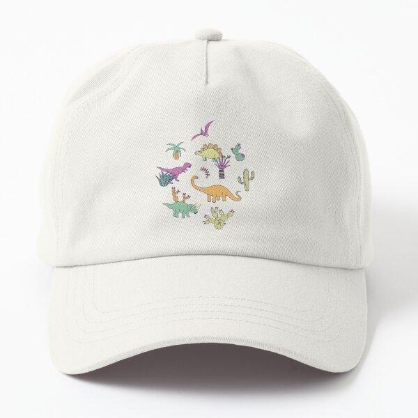 Dinosaur Desert - peach, mint and navy - fun pattern by Cecca Designs Dad Hat