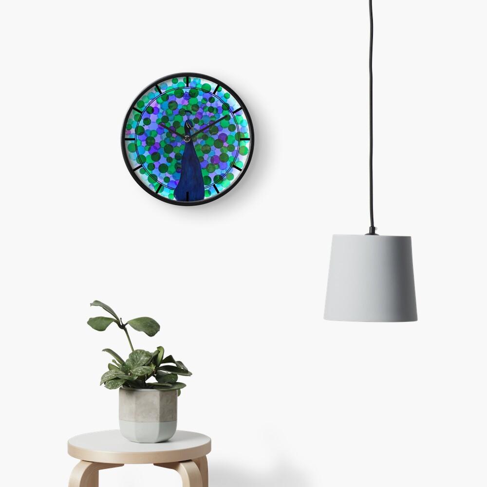 Radiance - Peacock Drum Head Painting Art Clock