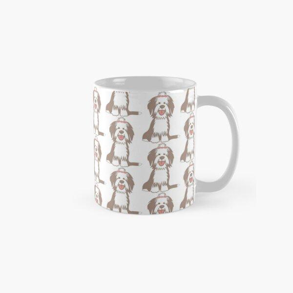 Sitting Fawn Bearded Collie Classic Mug