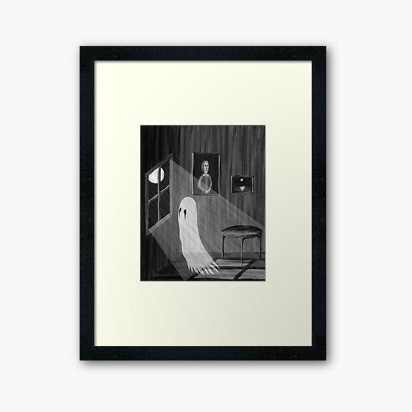 Ghost in Moonlight Framed Art Print