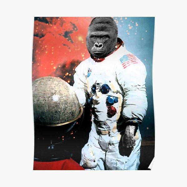 harambe americas astronaut legend Poster