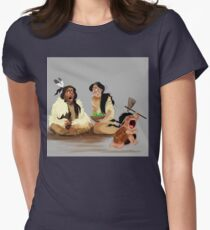 Crazy Horse and his daughter  Womens Fitted T-Shirt