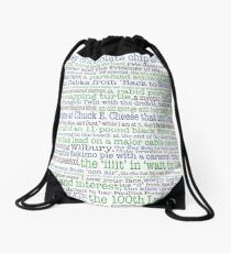 Psych Gus don't be... complete list for Psych fans Drawstring Bag
