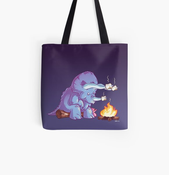 Triceramallows All Over Print Tote Bag
