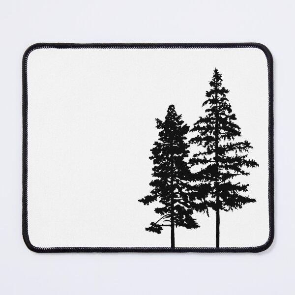 Minimalist 2 Skinny Pine Trees Mouse Pad