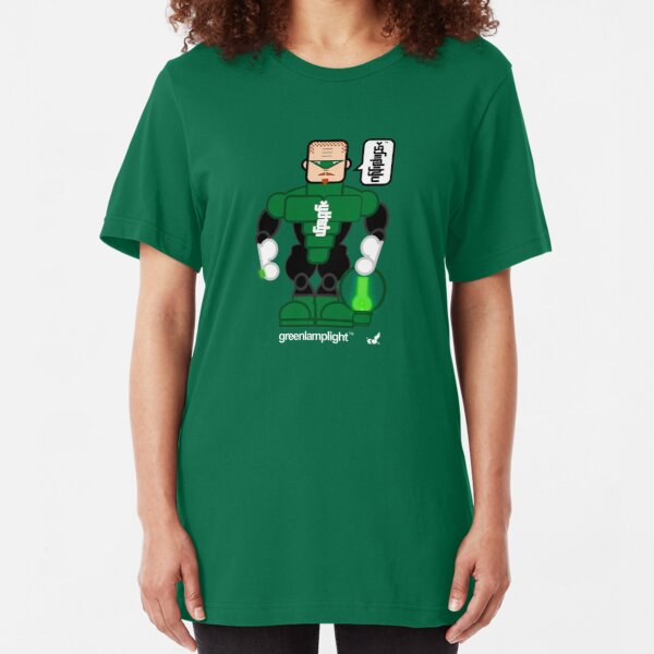 AFR Superheroes #08 - Green Lamplight Slim Fit T-Shirt