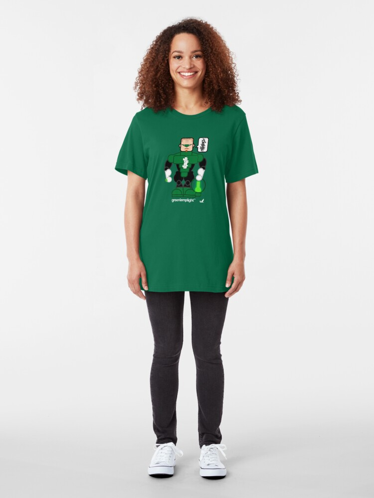 Alternate view of AFR Superheroes #08 - Green Lamplight Slim Fit T-Shirt