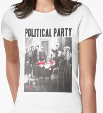 Political Party Shades & Red Cups Women's Fitted T-Shirt