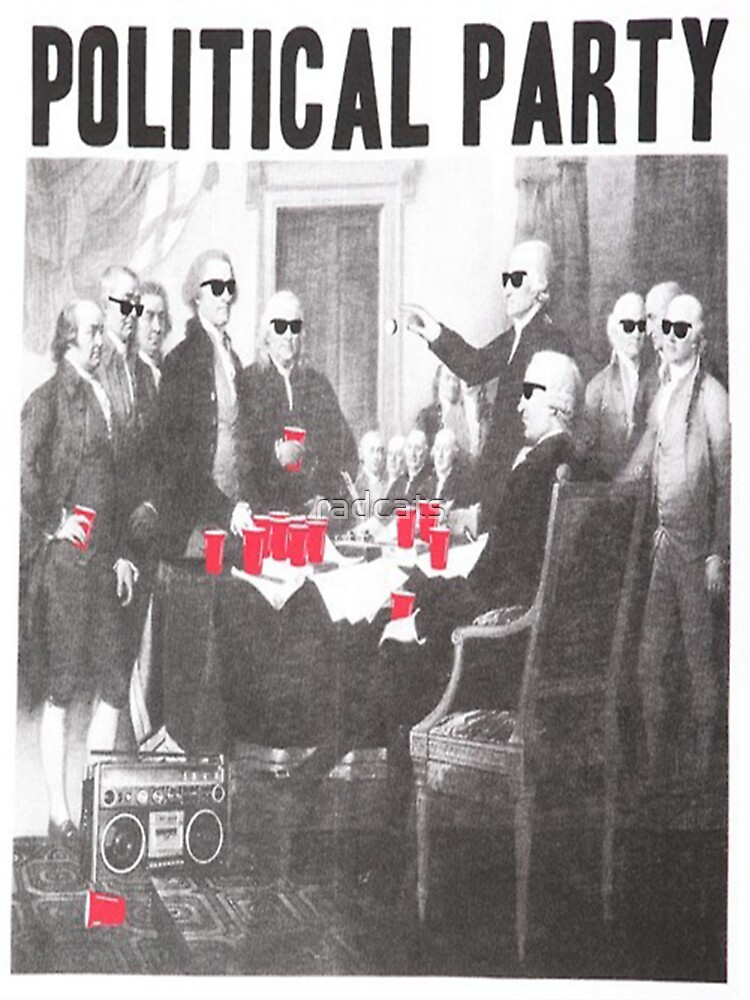 Political Party Shades & Red Cups | Unisex T-Shirt