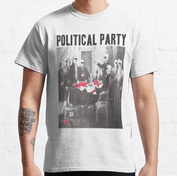 Sombras de partidos políticos y copas rojas Camiseta clásica
