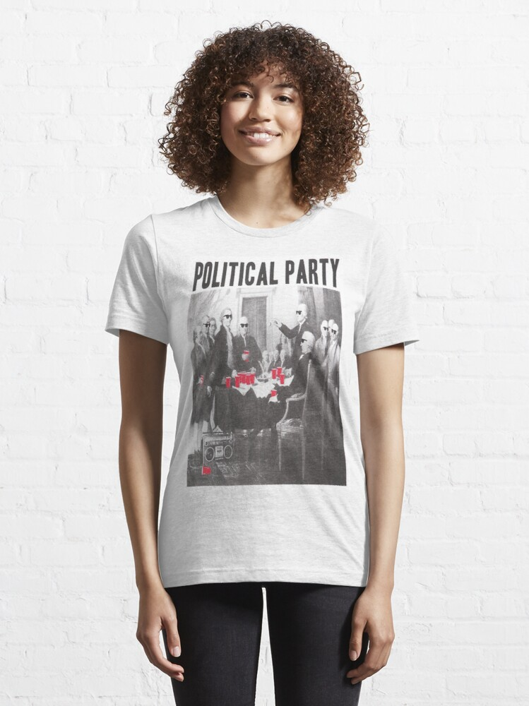 Alternate view of Political Party Shades & Red Cups Essential T-Shirt