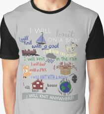 "Knitting Products ""I Will Knit with a Goat..."" Graphic T-Shirt"