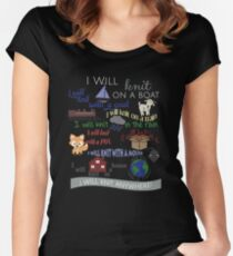 "Knitting Products ""I Will Knit with a Goat..."" Women's Fitted Scoop T-Shirt"