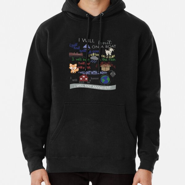 """Knitting Products """"I Will Knit with a Goat..."""" Pullover Hoodie"""