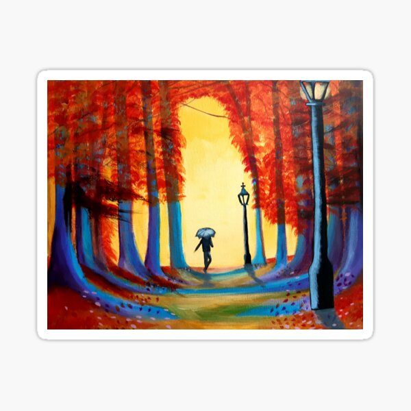The colours of Autumn beautiful vibrant colourful Sticker