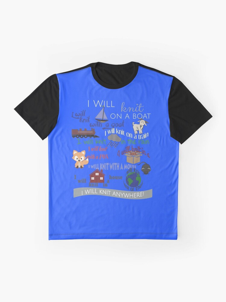 Alternative Ansicht von Strickprodukte: Ich werde auf einem Boot stricken Grafik T-Shirt